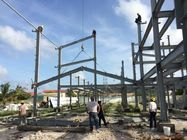 Chiny 2 Floor Steel Framed Buildings Warehouse Steel Structure With Alkyd Grey Paint in Maldive fabryka