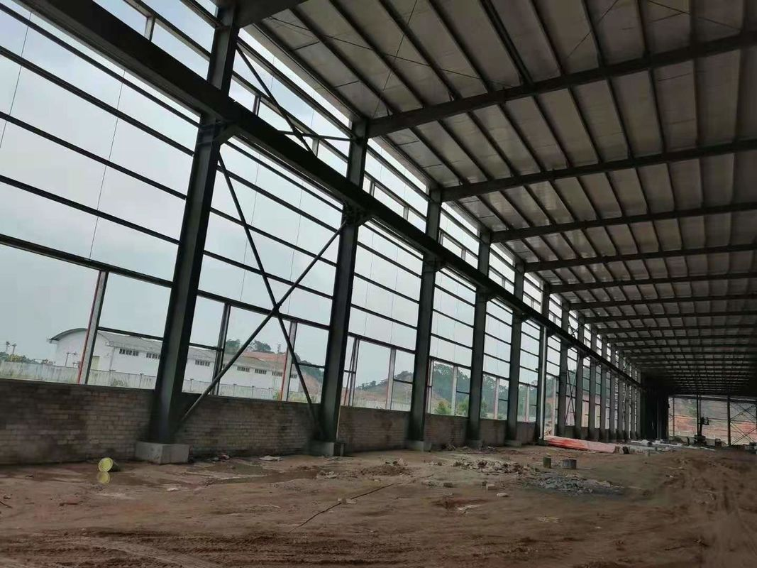 Multifunctional Steel Structure Construction For Poultry Fame Shed With Grey Color